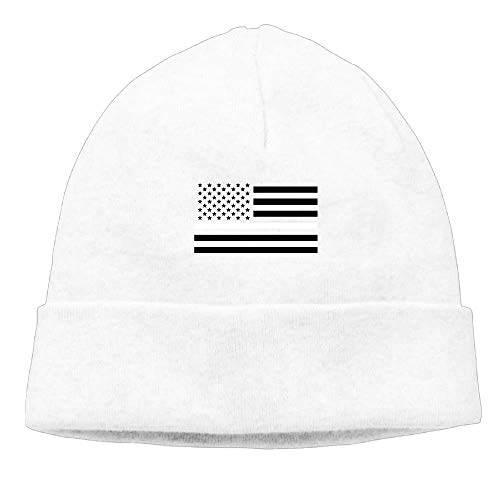 Thin White Line American Flag Unisex Fashion Beanie Knit Hat Cap ColorKey -