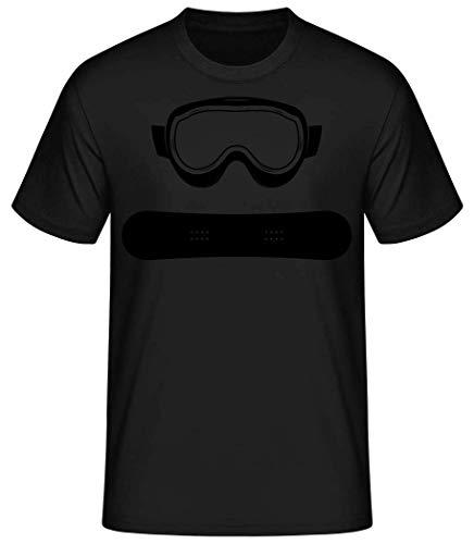 Shirtinator Männer Basic T-Shirt | Snowboard Equipment | Geschenke Lustig (Schwarz, L)