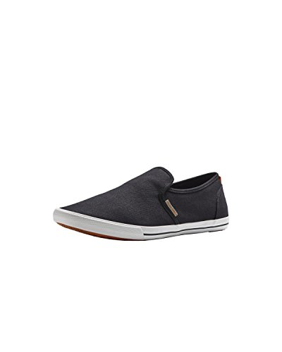 JACK & JONES Jjspider Canvas Loafer Anthracite Herren Mokassin Black (Anthracite)