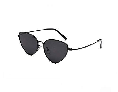 MJDABAOFA Sonnenbrillen Cat Eye Frauen Schwarze Sonnenbrille Getönte Farbe Objektiv Vintage Geformte Sonnenbrille Frauen Brillen Luxe Weiblichen Sonnenbrille Uv400