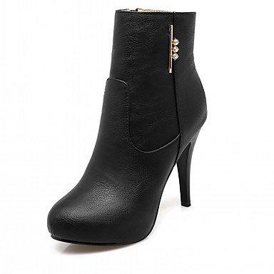 RTRY Scarpe Donna Pu Similpelle Autunno Inverno Comfort Novità Moda Stivali Stivali Stiletto Heel Round Toe Stivaletti/Stivaletti Di Strass US10.5 / EU42 / UK8.5 / CN43