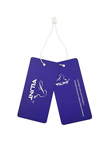 Maxikleid,VLUNT Damen V-Ausschnitt Ärmellos Strandkleider Boho Casual Lang Sommerkleid Cocktail Beachwear size 34~44 Schwarz