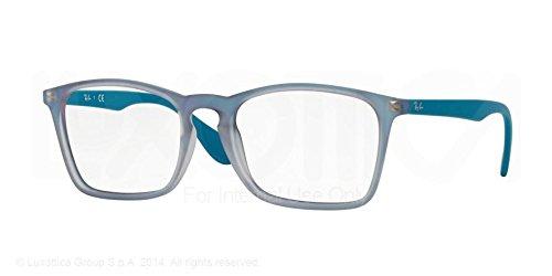 Ray-Ban RX7045 Lunettes en noir mat RX7045 5364 53 5484: Azure Iridescent