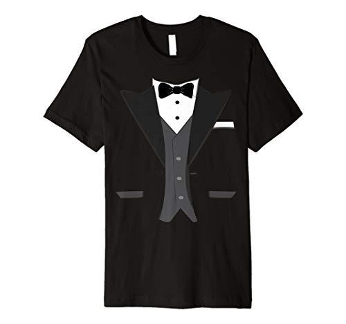 Tuxedo Halloween Hochzeit Bräutigam Ball Kostüm Funny T-Shirt