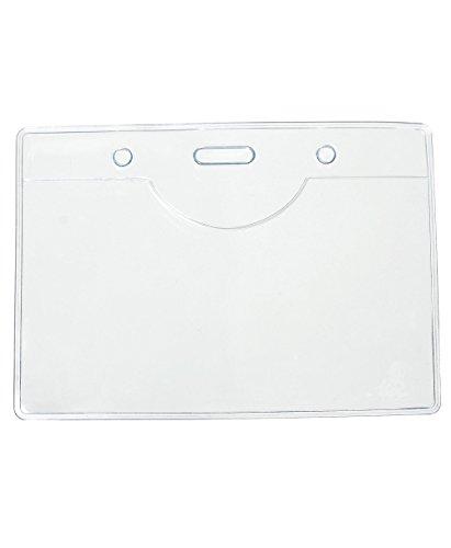 50Stück PVC-Kunststoff-Lanyards für Namensschilder, von Tomorrow, 9,8x 7cm, 9,5x 5,5cm, PVC, transparent, mit Taschen, über Fernbedienung