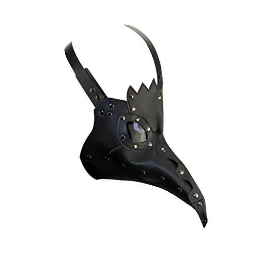 Kostüm Pest Dr - DM201605 Pest Doctor Maske Vögel Lange Nase Schnabel Kunstleder Steampunk Halloween Kostüm schwarz Black Style 2