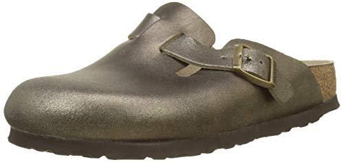 footprints birkenstock BIRKENSTOCK Damen Boston Clogs, Washed Metallic Antique Gold, 38 EU