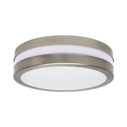 Deckenlampe Aussenleuchte Aussenlampe Deckenleuchte Wandleuchte Badbeleuchtung Terassenbeleuchtung 230V Rund Mattchrom 2x E27 GRANDE (2x 6 Watt Warmweiß)