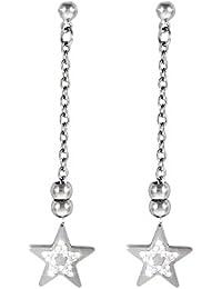 d47d0d82b2e71d Stroili - Orecchini stella in acciaio rodiato e cristalli per Donna - Lady  Glam