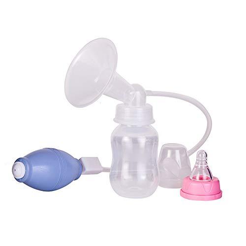 L&Q Tiralatte Manuale, Tiralatte In Silicone Doppio Controllo Manuale Per L'allattamento Al Seno (blu)