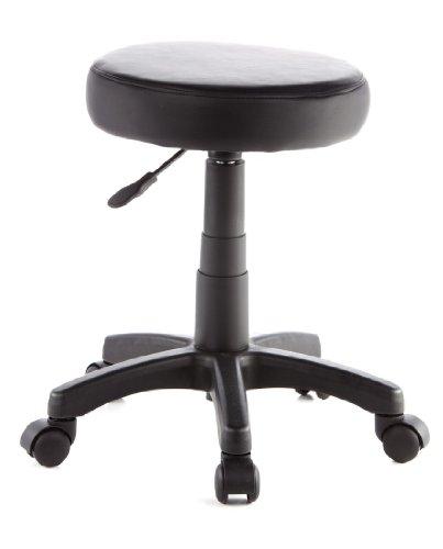 hjh OFFICE 685270 Drehocker Arbeitsstuhl DISC schwarz, leicht zu reinigen, pflegeleichter Sitz, vielfach einsetzbar, wertig verarbeitet, ohne Armlehnen, Bürostuhl, Drehstuhl, Stuhl