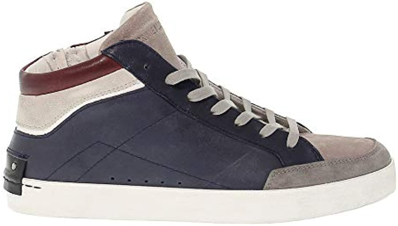 Crime London Hi Top scarpe da ginnastica Uomo 11320BS110 Pelle Pelle Pelle Blu   Abbiamo Vinto La Lode Da Parte Dei Clienti  cd7a0e