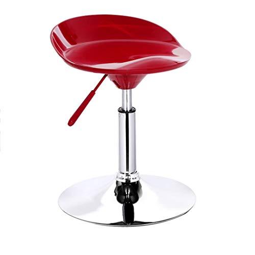 Moderne Theke Höhe Hocker (Stuhl Barhocker Hoher Hocker, Moderne Höhenverstellbare Anhebende Rückenlehne Sitzstange Frühstückstheke Home Cafe Stühle mit Rückenlehnen Armlehnen und Fußstützen (Farbe : Rot))