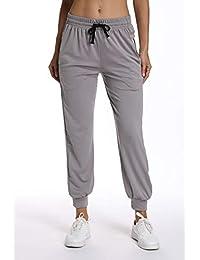 Amazon.fr   pantalon jogging femme - Gris   Vêtements 2e2c9204551