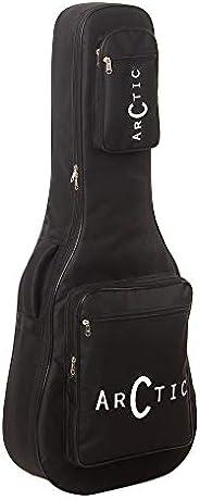 حقيبة/غطاء جيتار صوتي من ARCTIC مع بطانة إسفنجية {أسود} قوي ومتين لجميع المقاسات والأشكال جيتار شعبي / كلاسيكي
