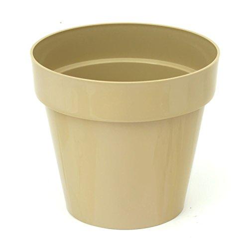 Pot de fleur Cube Shine 2.2 Lt, en caffe au lait