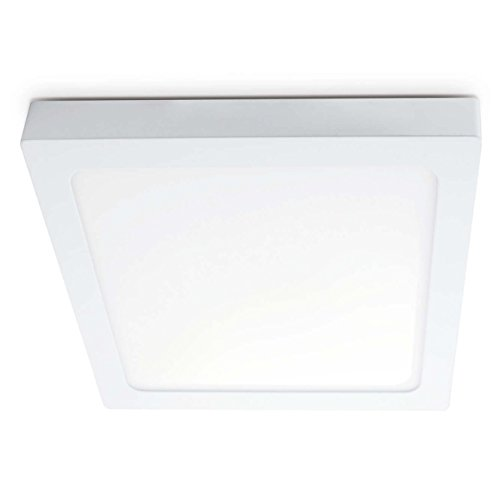 Aufbauleuchte LED FLORENZ 12W-24W (800-1700lm) Neutralweiss (4000k) Lampenleuchte Deckenspot 230V (Eckig / 18W)