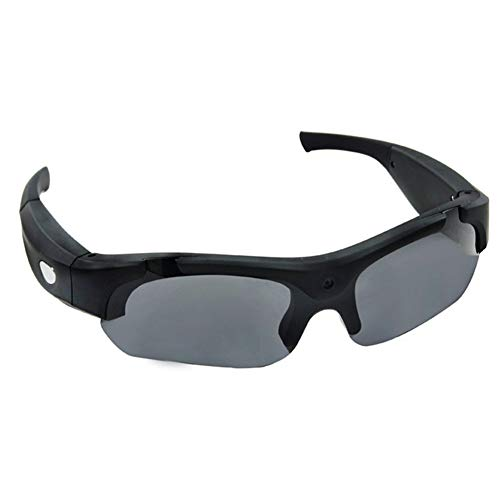 HKYMBM Intelligente Sport-Sonnenbrille, Sportkamera-Brille Flachwinkel-Multifunktions-HD-Video 1080P Outdoor Sports DV-Bewegungsobjektiv, Funktionskamera-Unisex-Schutzbrille