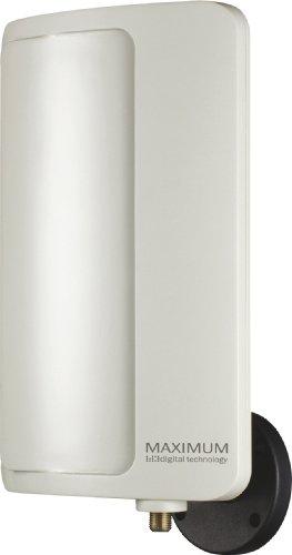 Maximum DA-6000 Aktive DVB-T Antenne (20dB Verstärker, geeignet für Aussen- oder Innenmontage) weiß