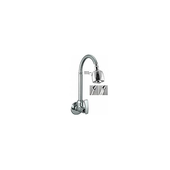 SBD Sink Cock 360 Rotating Shower Tap For Kitchen/Bathroom Soft,Wall Mounted (Big Flexible Neck & Double Flow)
