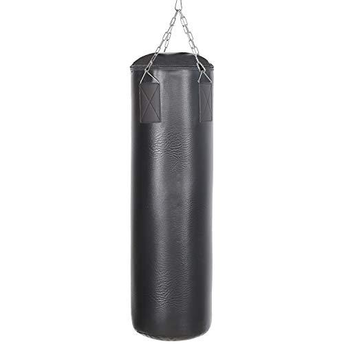 LARS360 Schwarz 105 x 28 cm 25kg Boxsack gefüllt Boxsack Set Polyester Punchingsäcke Kickboxen für Box und Kickbox Training (Wohnung Boxsack)