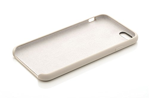 "iProtect Silikon Schutzhülle Apple iPhone 6 Plus (5,5"") Soft case gummiert in Schwarz Grau"