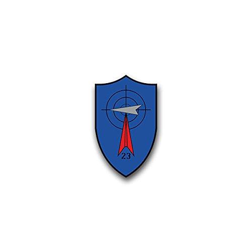 Copytec Aufkleber/Sticker - FlaRakGrp 23 Flugabwehrraketengruppe Oberstimm Ingolstadt Luftwaffe Bundeswehr Wappen Abzeichen 4x7cm #A1638