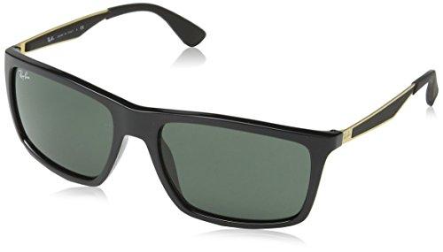 RAYBAN Unisex Sonnenbrille Mod. 4228, (Gestell: schwarz, Gläser: dunkelgrün 622771), Large (Herstellergröße: 58)