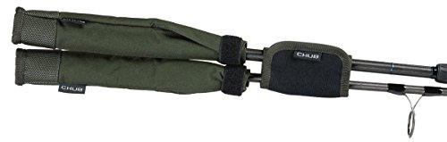 Chub Vantage Tip Tectors – Puntas de protección para caña de pesca (2 unidades, con cierre de velcro), color verde
