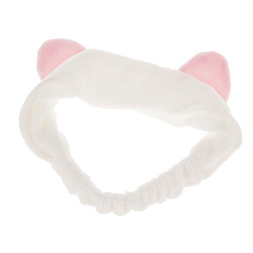 aarbänder Haarschmuck Haarreifen mit Katze-Ohr für Gesichtswäsche Make up - Weiß ()