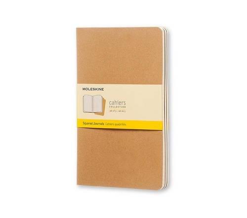 Moleskine Cahier Journal Set 3 Quaderni a Quadretti, Grande, Marrone