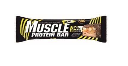 All Stars Muscle Protein Bar 24 x 80g Riegel Haselnuss-Karamell - Whey Crisp