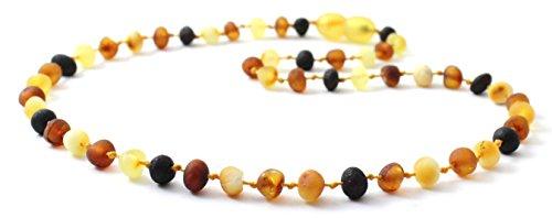 Collana Di Ambra Baltica - Lunghezza 32 cm - Multicolore - Perle Di Ambra Rozzo - TipTopEco (Multicolore, 32)