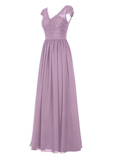 Dresstells Damen Abendkleider Bodenlang Homecoming Kleider Promi-Kleider Grün