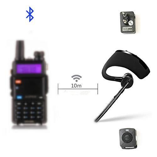 Walkie Talkie Bluetooth PTT earpiece Handfree Wireless Headphone Headset Mic for BaoFeng UV-82 UV-5R BF-888S TYT Two Way Radio Ptt Bluetooth