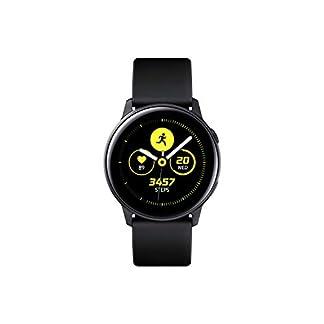 SAMSUNG Galaxy Watch Active Reloj Inteligente Negro SAMOLED 2,79 cm (1.1″) GPS (satélite) – Relojes Inteligentes (2,79 cm (1.1″), SAMOLED, Pantalla táctil, GPS (satélite), 25 g, Negro)