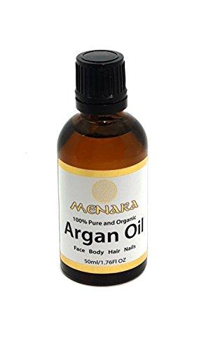 Menara Bio-Arganöl für Haar, Nägel & Körper 50ml 100% natürliche Premium-Qualität Marokkanisches Öl Anti-Aging, Hydratisierung & Glättung Kaltgepresst & Jungfrau (1)