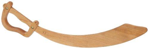 BestSaller 1121 Piratensäbel aus Holz, 56cm lang, natur (1 Stück) (Piraten Spielzeug Schwerter)