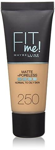 Maybelline Fit Me Matte & Poreless Foundation 250 Sun Beige 30ml