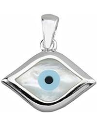 Colgante ojo turco plata ley 925m nácar Horus [AA0877]