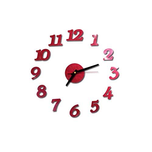 YWLINK 3D DIY NúMeros Romanos Espejo De AcríLico Etiqueta De La Pared del Reloj DecoracióN para El Hogar úNico Y Personalidad CalcomaníAs Murales
