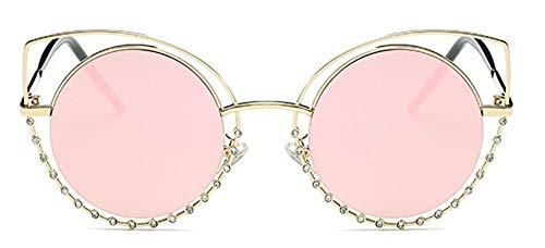 LAMAMAG Sonnenbrille Cat Eye Sonnenbrille Frauen Beschichtung Reflektierende Spiegelbrille Retro Sunglases Lunette Femme, 3