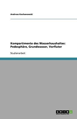 Kompartimente des Wasserhaushaltes: Pedosphäre, Grundwasser, Vorfluter