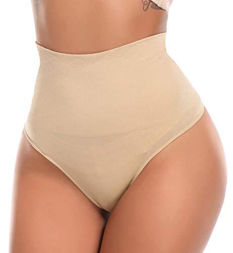 SLIMBELLE Donna Slip di Controllo Perizoma Mutandine a Vita Alta Girdle Tummy Slimmer 2 Pack-M
