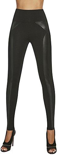Bas Bleu Elegante Shape-Leggings Versch. Styles * Formend modellierend schlankmachend * Gr. S-XXL Jeans Schlankmacher Leggins Damenhose Push-up, Schwarz (Ally), L