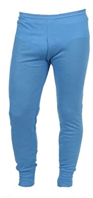 Mens Quality Thermal Long Johns / Underwear - Available in White / Blue / Charcoal and in Sizes Small / Medium / Large / X Large / XX Large