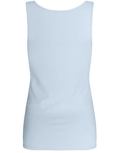 oodji Collection Femme Débardeur Basique Bleu (7000N)