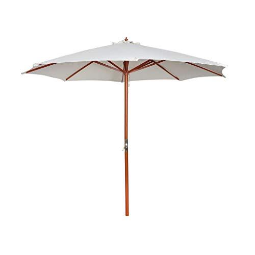 vidaXL Parasol Blanc Pare Soleil Jardin Terrasse Parasol de Plage Balcon