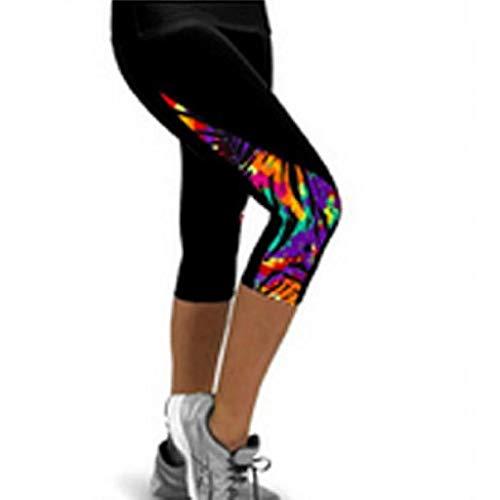 SHOBDW Pantalones Mujer Moda Patchwork Colorido Cintura