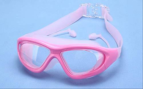 XYQY Schwimmbrille Transparent Männer Frauen Myopie Rezept Erwachsene Schwimmbrille Großen Rahmen Optische Schwimmbrille Dioptrien Brillen BrillenRosa